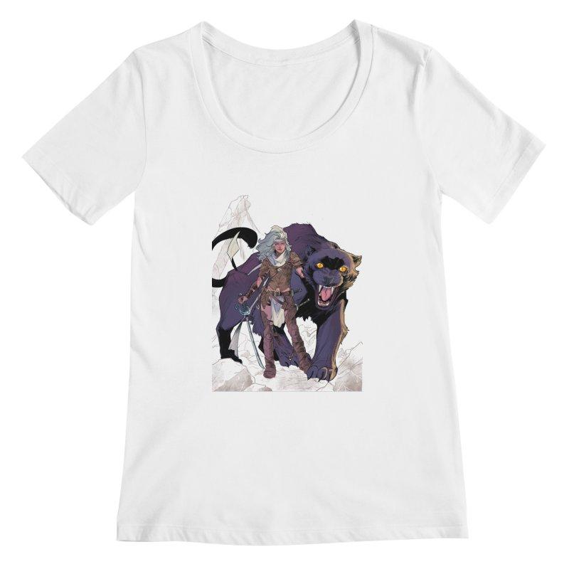 ROSE T-Shirt Women's Scoopneck by ROSEFinch's Artist Shop