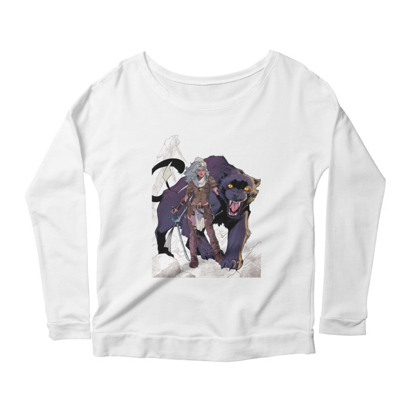ROSE T-Shirt Women's Longsleeve Scoopneck  by ROSEFinch's Artist Shop