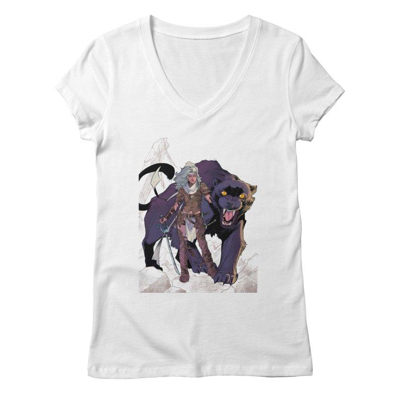ROSE T-Shirt Women's Regular V-Neck by ROSEFinch's Artist Shop