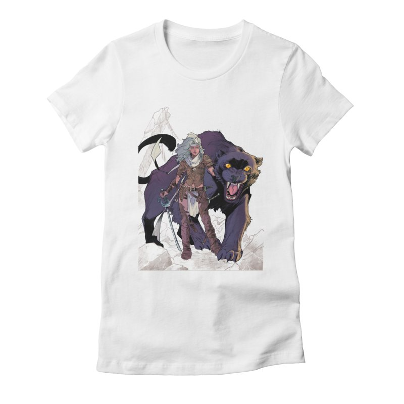 ROSE T-Shirt Women's Fitted T-Shirt by ROSEFinch's Artist Shop