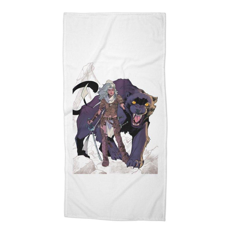 ROSE T-Shirt Accessories Beach Towel by ROSEFinch's Artist Shop