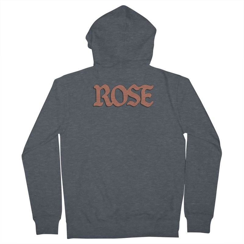 Logo T Women's French Terry Zip-Up Hoody by ROSEFinch's Artist Shop
