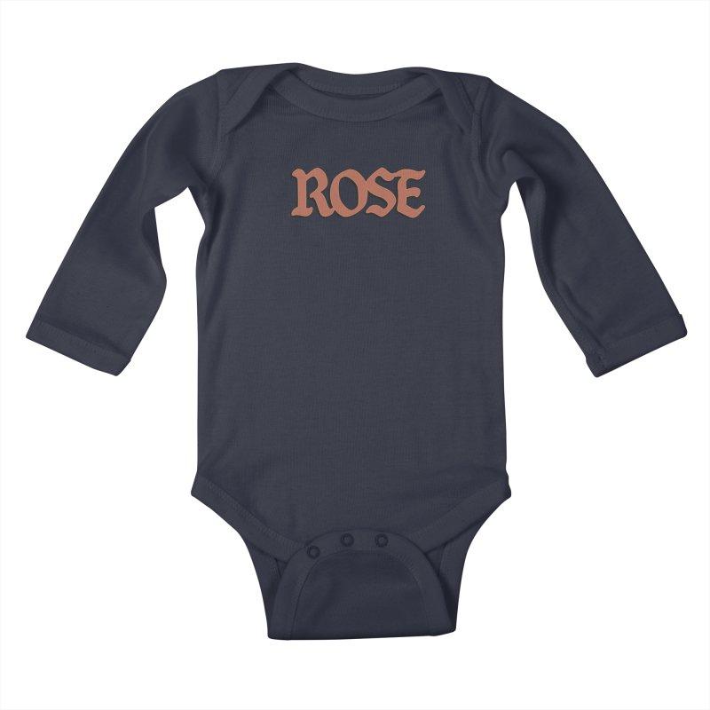 Logo T Kids Baby Longsleeve Bodysuit by ROSEFinch's Artist Shop