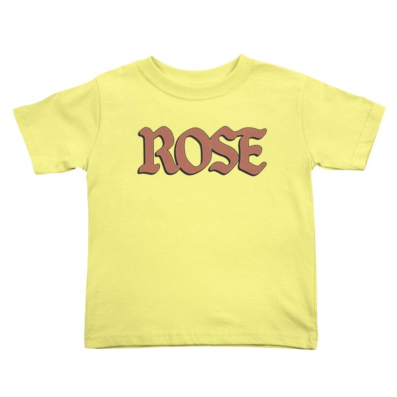 Logo T Kids Toddler T-Shirt by Rose