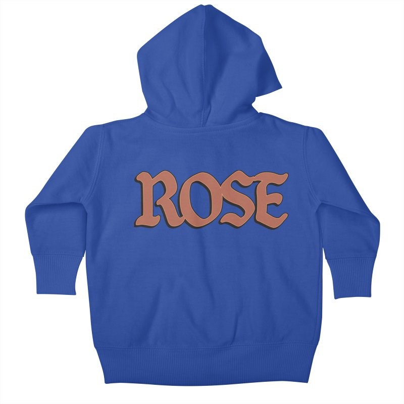 Logo T Kids Baby Zip-Up Hoody by ROSEFinch's Artist Shop