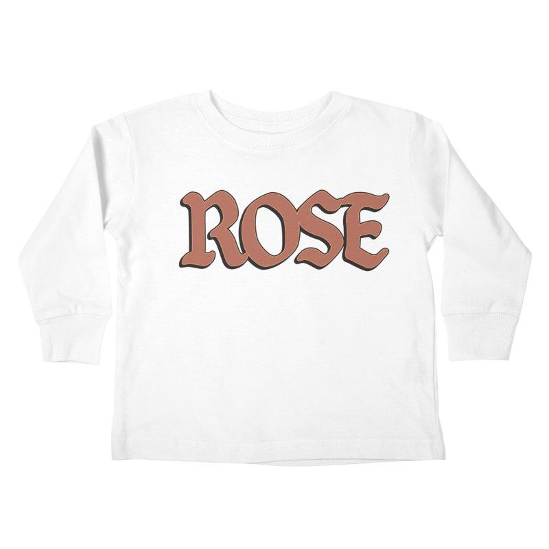 Logo T Kids Toddler Longsleeve T-Shirt by ROSEFinch's Artist Shop