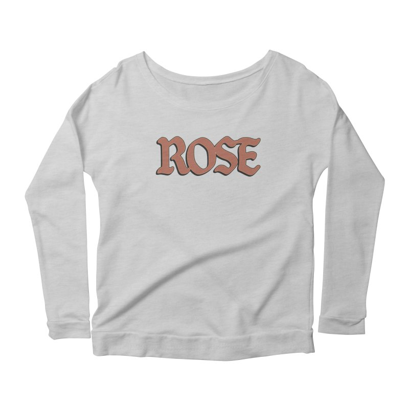 Logo T Women's Scoop Neck Longsleeve T-Shirt by ROSEFinch's Artist Shop