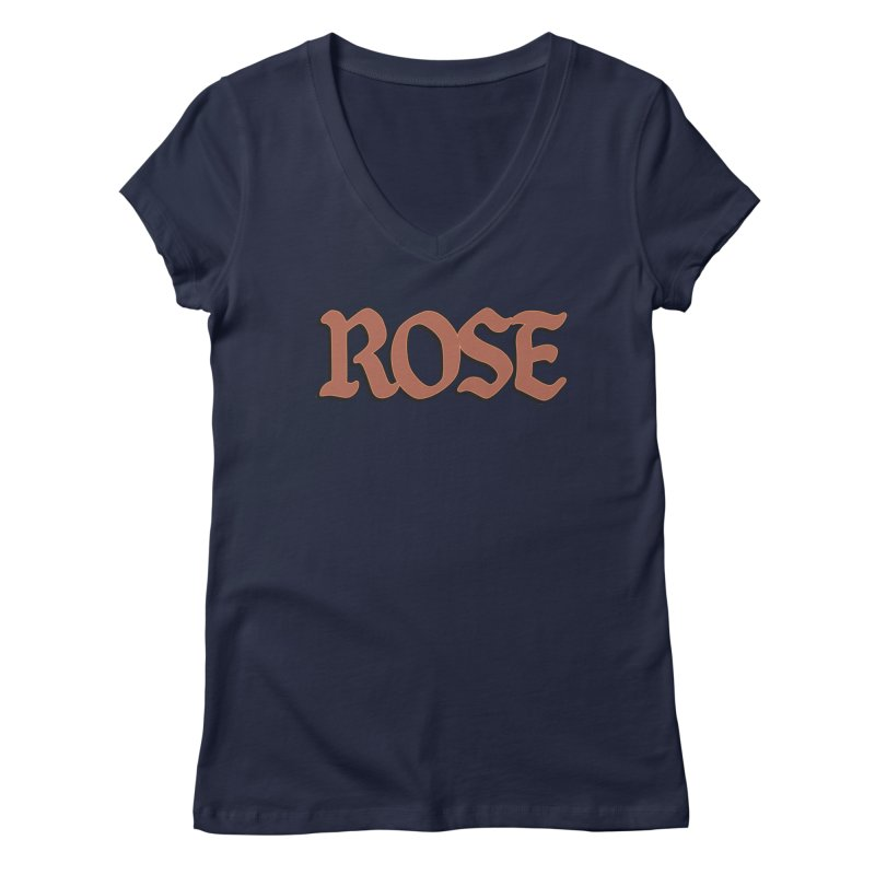 Logo T Women's V-Neck by ROSEFinch's Artist Shop