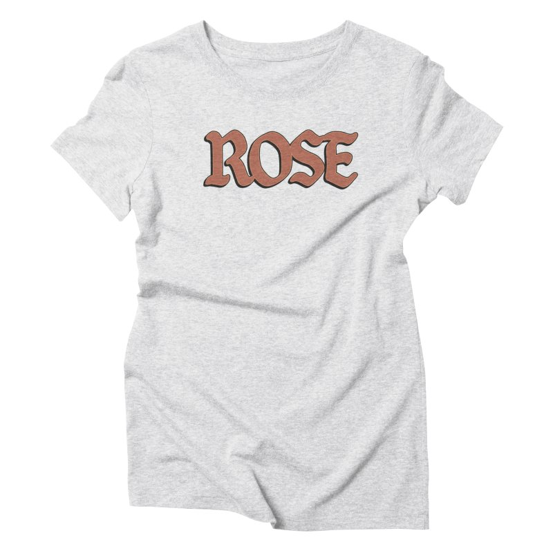 Logo T Women's Triblend T-shirt by ROSEFinch's Artist Shop