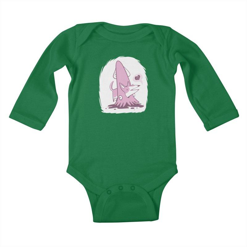 Here's Corgi! Kids Baby Longsleeve Bodysuit by The Fabulous Raabulous