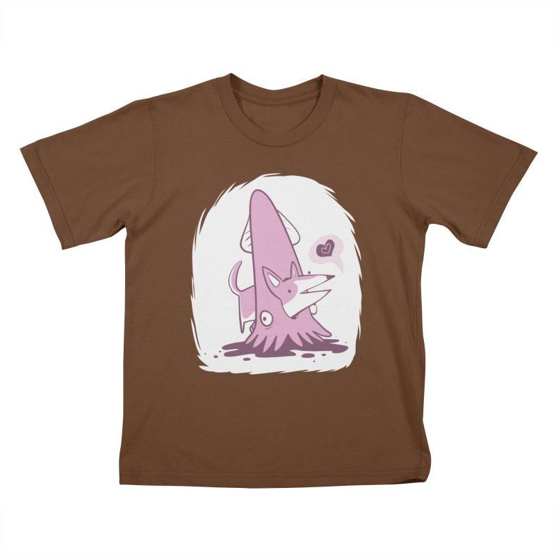 Here's Corgi! Kids T-Shirt by The Fabulous Raabulous