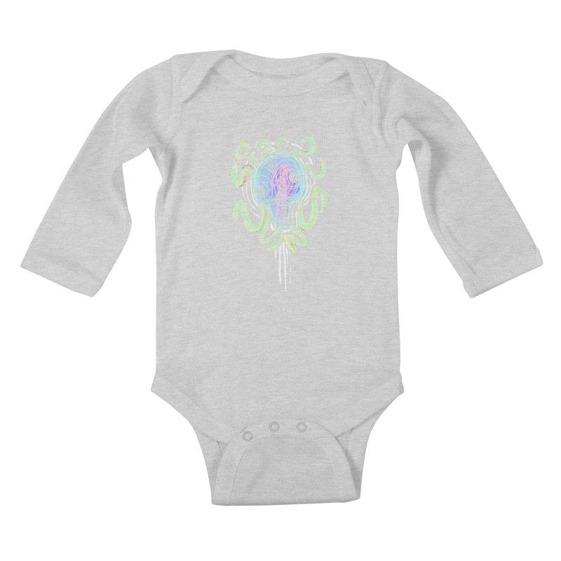 Tentacolourful Kids Baby Longsleeve Bodysuit by The Fabulous Raabulous