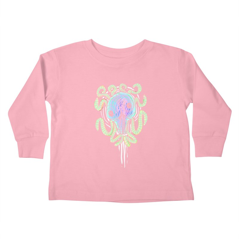 Tentacolourful Kids Toddler Longsleeve T-Shirt by The Fabulous Raabulous
