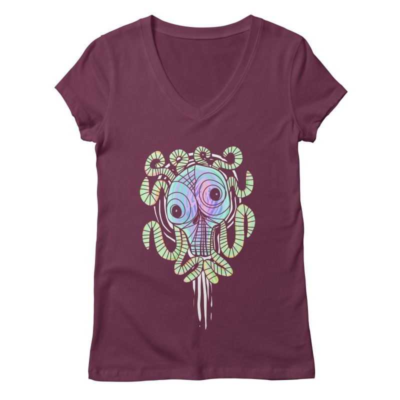 Tentacolourful Women's V-Neck by The Fabulous Raabulous