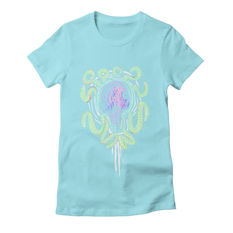 Tentacolourful Women's Fitted T-Shirt by The Fabulous Raabulous