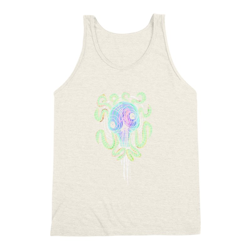 Tentacolourful Men's Triblend Tank by The Fabulous Raabulous