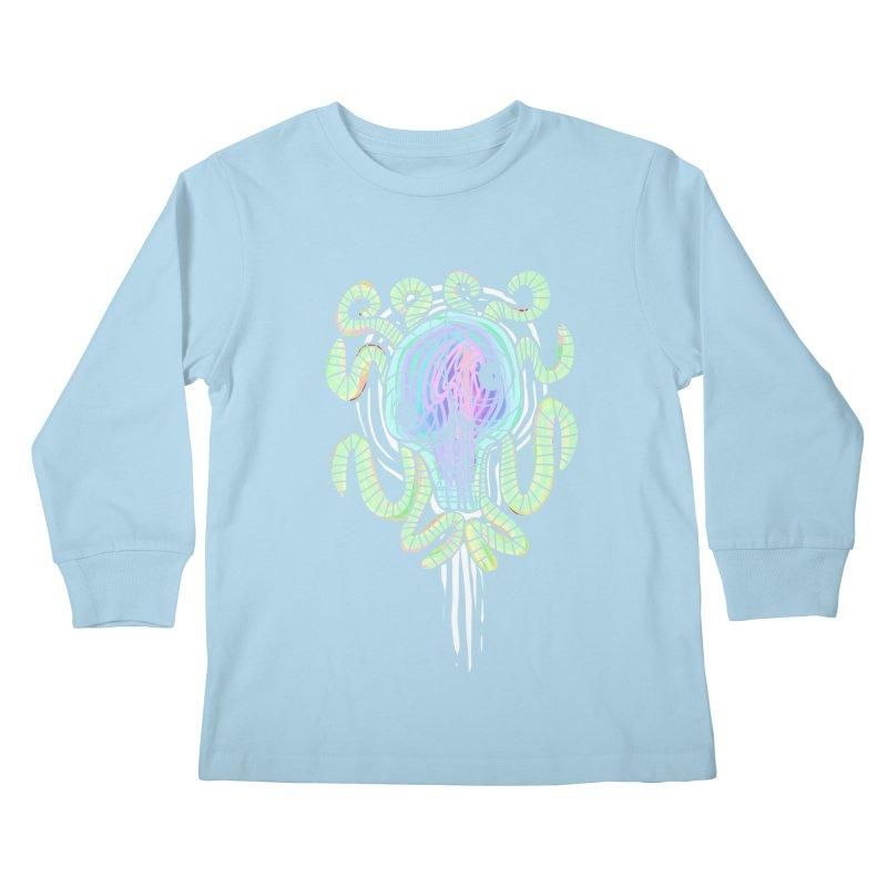Tentacolourful Kids Longsleeve T-Shirt by The Fabulous Raabulous