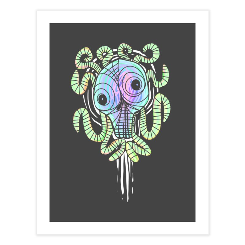 Tentacolourful Home Fine Art Print by The Fabulous Raabulous