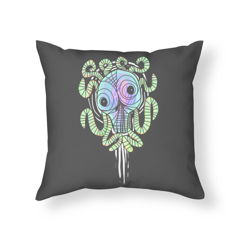Tentacolourful Home Throw Pillow by The Fabulous Raabulous