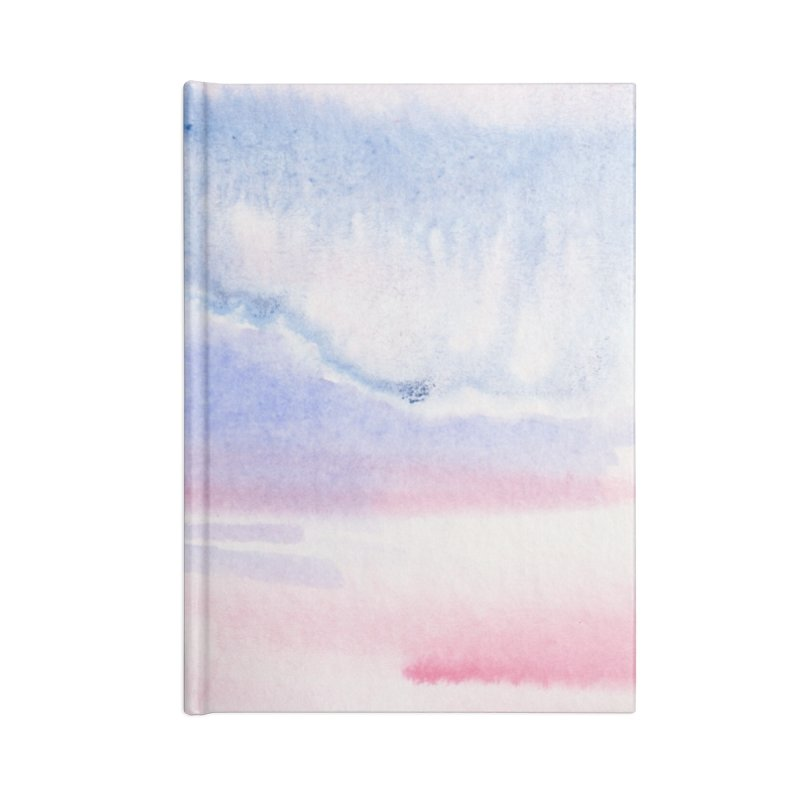 Pink Sky Watercolor Wash Accessories Lined Journal Notebook by Rachel Mambach Art Shop