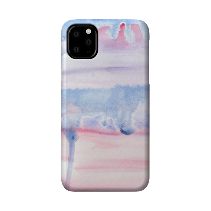 Pink Sky Watercolor Wash Accessories Phone Case by Rachel Mambach Art Shop