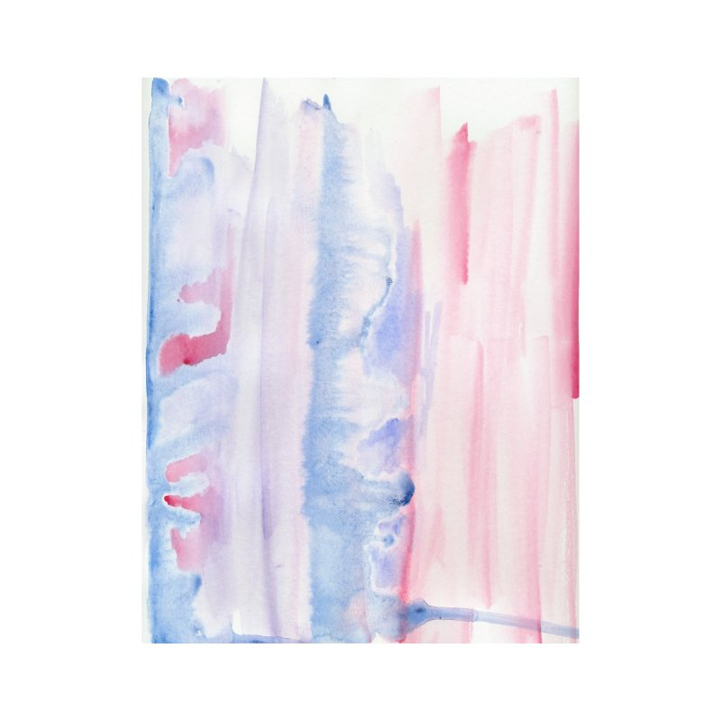 Pink Sky Watercolor Wash by Rachel Mambach Art Shop