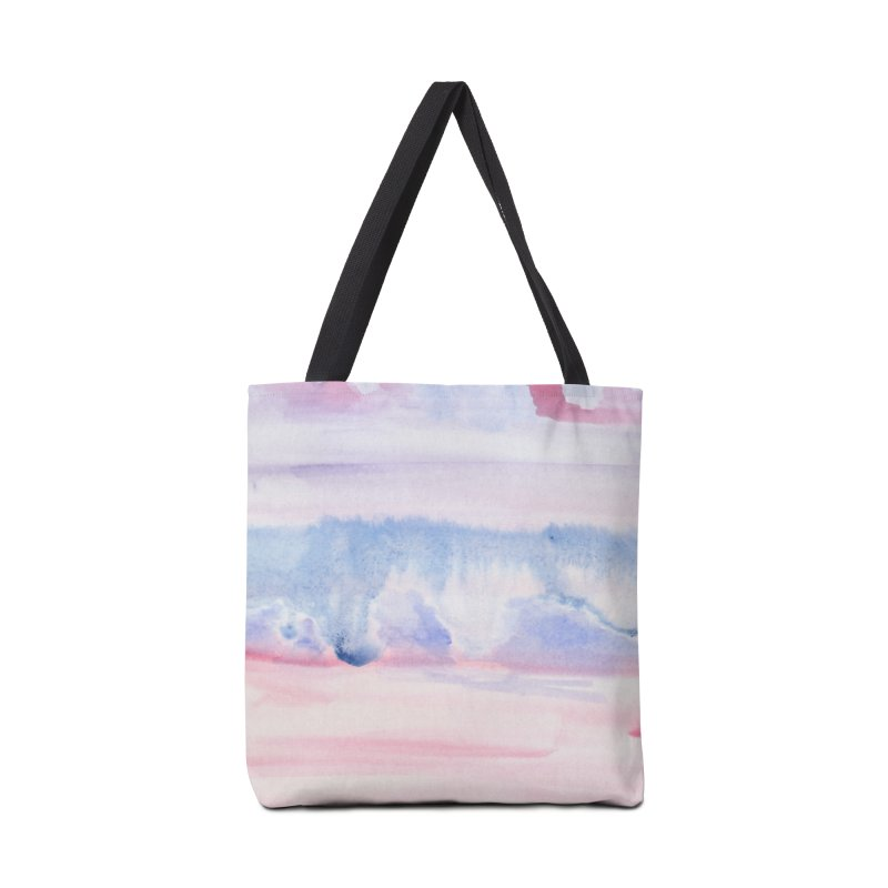 Pink Sky Watercolor Wash Accessories Tote Bag Bag by Rachel Mambach Art Shop