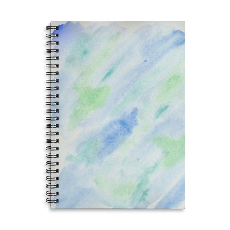 Pond Splash Watercolor Wash Accessories Lined Spiral Notebook by Rachel Mambach Art Shop