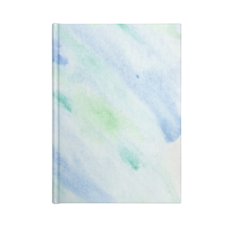 Pond Splash Watercolor Wash Accessories Lined Journal Notebook by Rachel Mambach Art Shop
