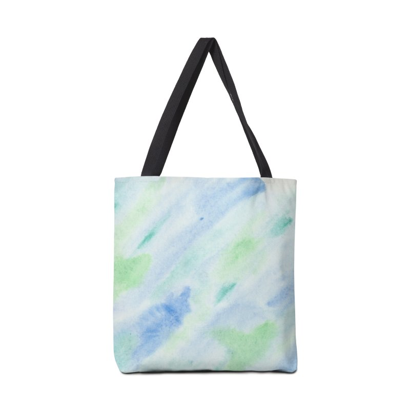 Pond Splash Watercolor Wash Accessories Tote Bag Bag by Rachel Mambach Art Shop