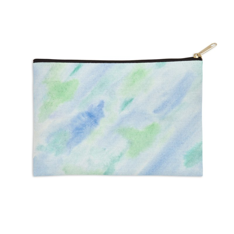 Pond Splash Watercolor Wash Accessories Zip Pouch by Rachel Mambach Art Shop