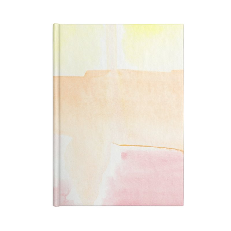 Summer Sunshine Watercolor Wash Accessories Lined Journal Notebook by Rachel Mambach Art Shop