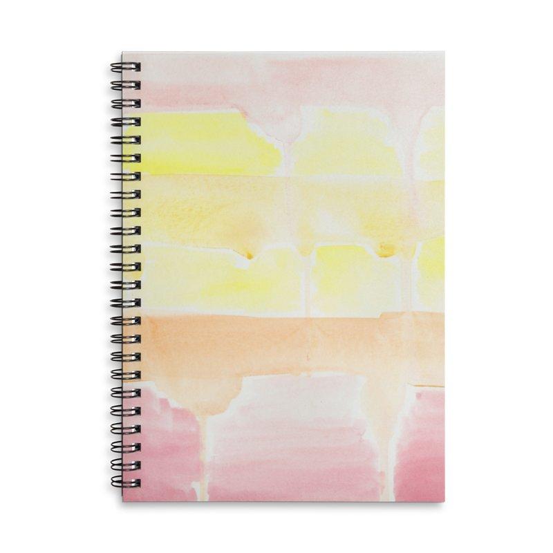 Summer Sunshine Watercolor Wash Accessories Lined Spiral Notebook by Rachel Mambach Art Shop
