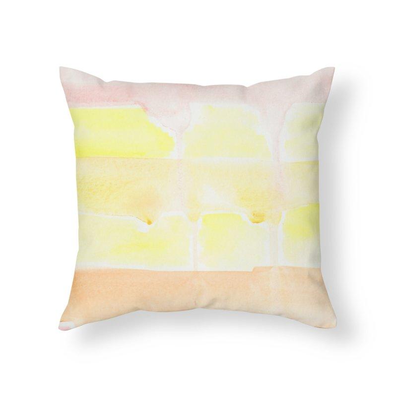 Summer Sunshine Watercolor Wash Home Throw Pillow by Rachel Mambach Art Shop