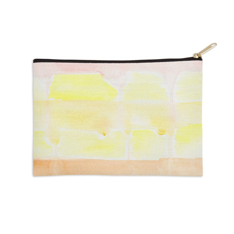 Summer Sunshine Watercolor Wash Accessories Zip Pouch by Rachel Mambach Art Shop