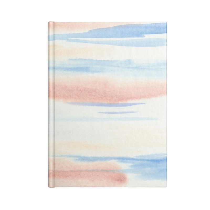 Sandy Sea Watercolor Wash Accessories Lined Journal Notebook by Rachel Mambach Art Shop