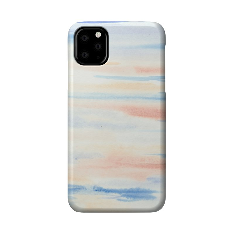 Sandy Sea Watercolor Wash Accessories Phone Case by Rachel Mambach Art Shop