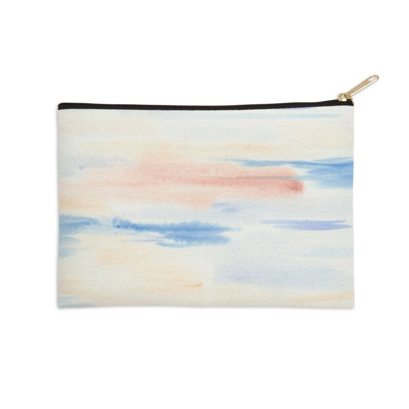 Sandy Sea Watercolor Wash Accessories Zip Pouch by Rachel Mambach Art Shop