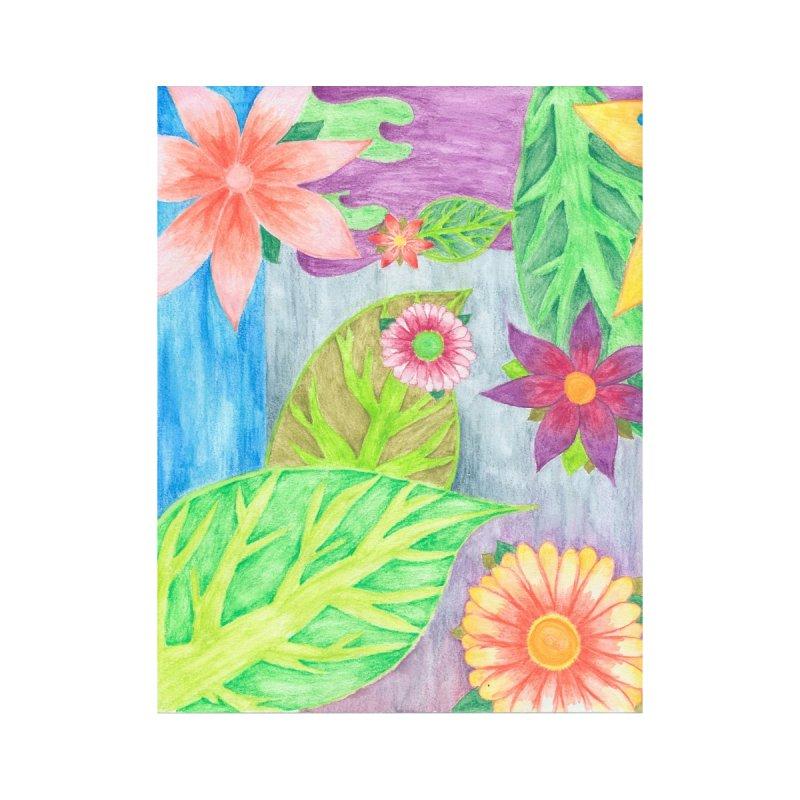 Evening Flowers Accessories Zip Pouch by Rachel Mambach Art Shop