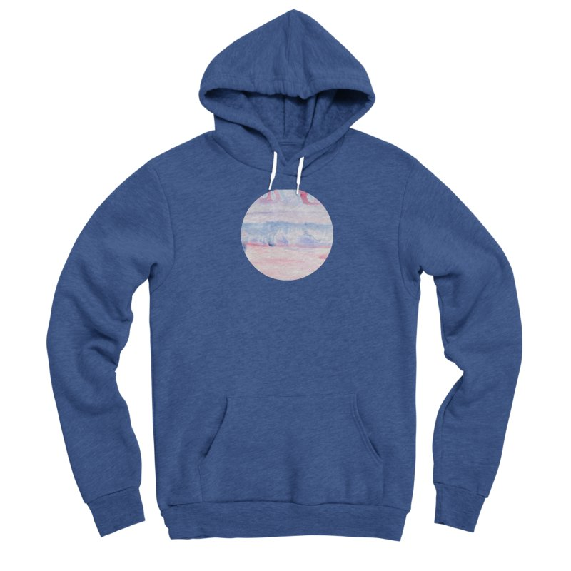 Pink Sky Watercolor Circle (Women's Only) Women's Pullover Hoody by Rachel Mambach Art Shop