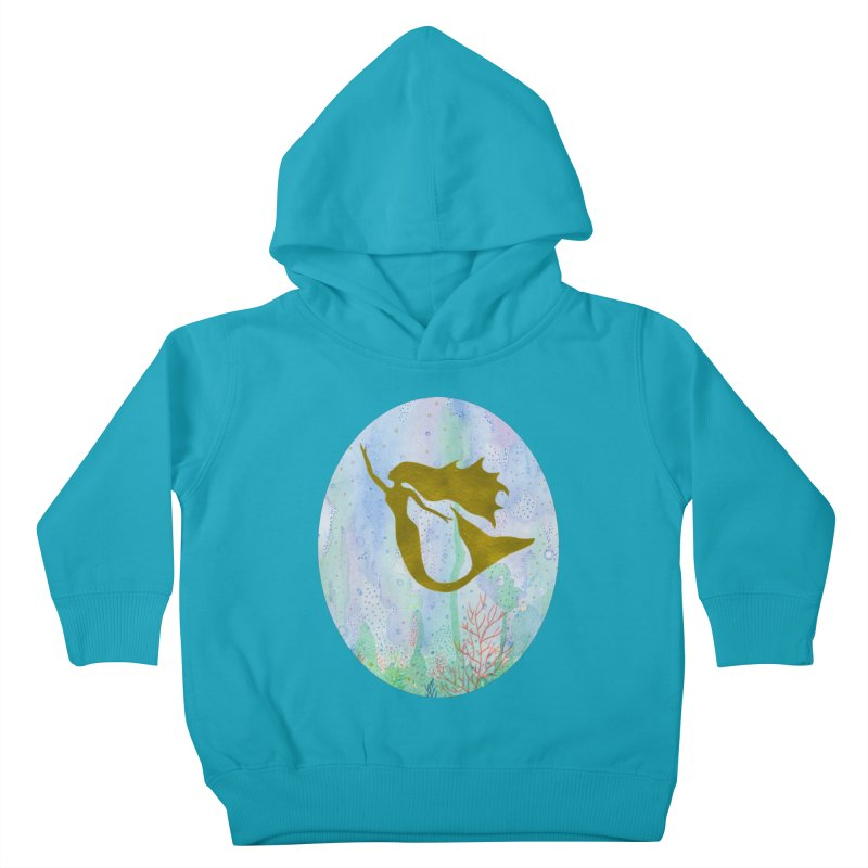 Miracle Mermaid Oval (Women/Kids) Kids Toddler Pullover Hoody by Rachel Mambach Art Shop