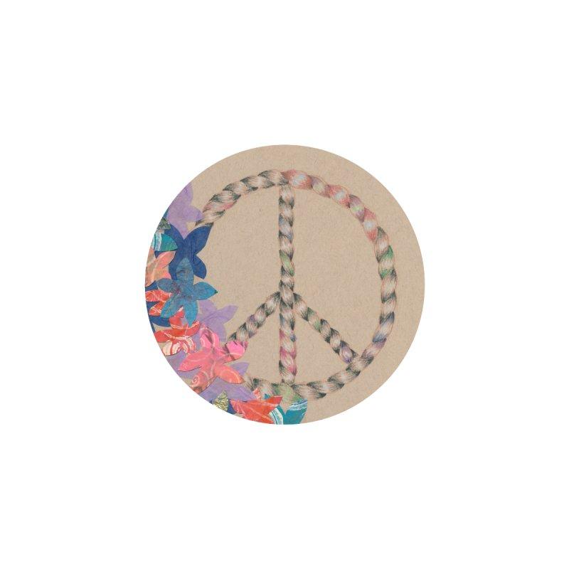 Peace and Flora Circle (Women/Kids) Women's Zip-Up Hoody by Rachel Mambach Art Shop
