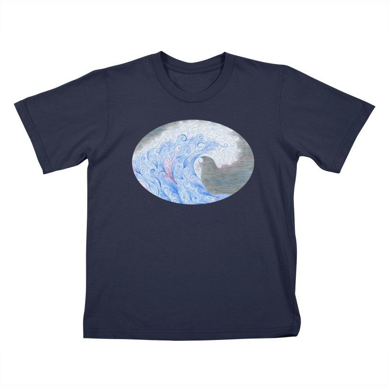 Serenity Oval (Women/Men/Kids) Kids T-Shirt by Rachel Mambach Art Shop