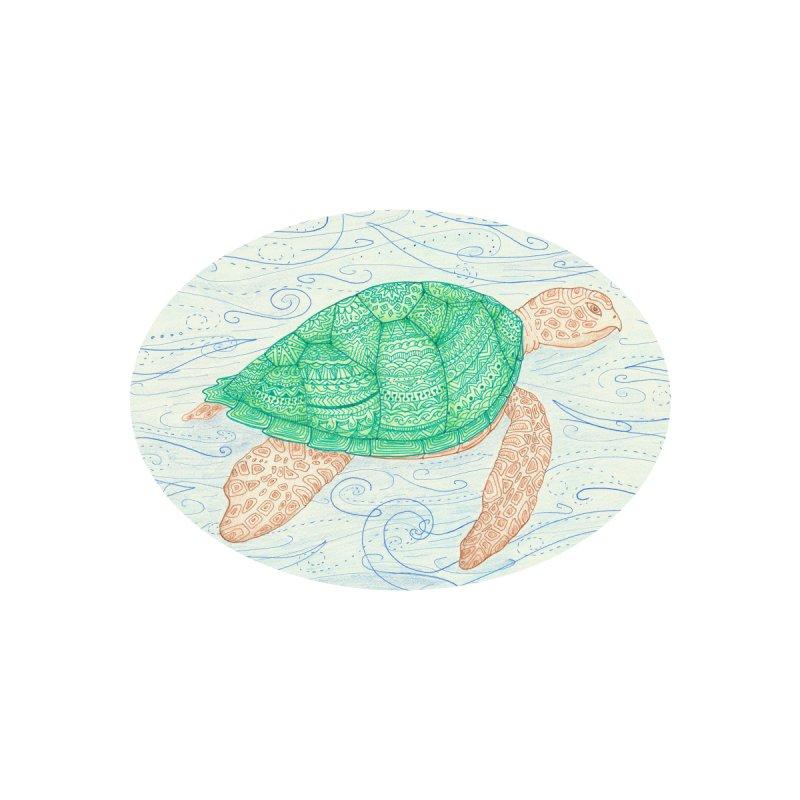 Determined Sea Turtle (Kids Only) Kids T-Shirt by Rachel Mambach Art Shop