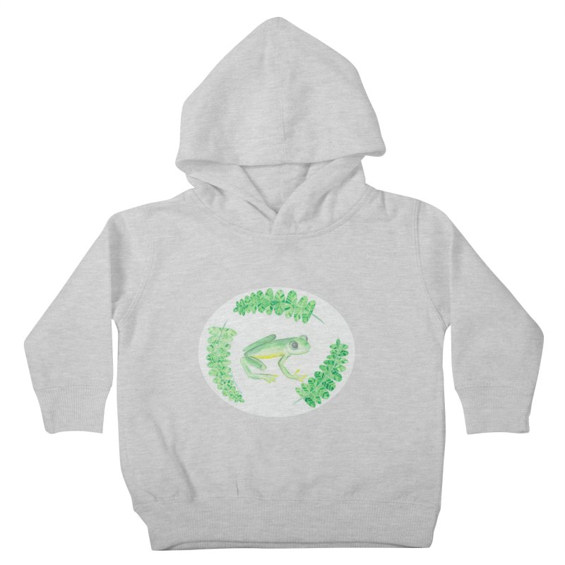 Froggy Friend Oval (Kids Only) Kids Toddler Pullover Hoody by Rachel Mambach Art Shop
