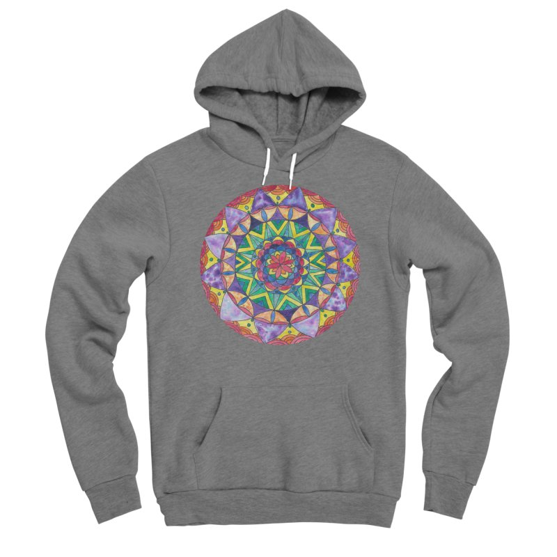 Rainbow Mandala (Women/Men/Kids) Women's Pullover Hoody by Rachel Mambach Art Shop