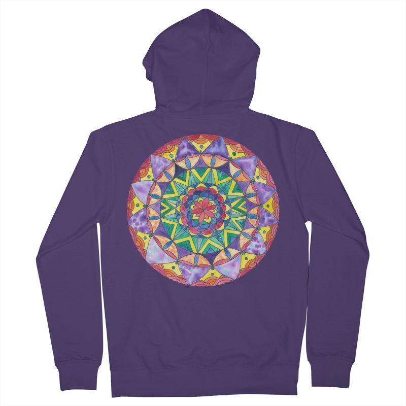 Rainbow Mandala (Women/Men/Kids) Women's Zip-Up Hoody by Rachel Mambach Art Shop