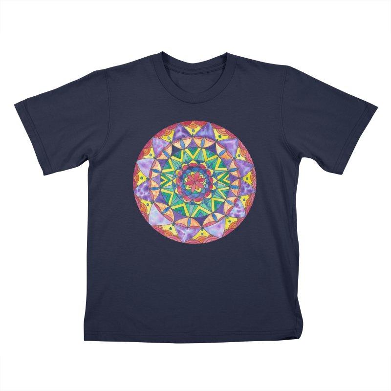 Rainbow Mandala (Women/Men/Kids) Kids T-Shirt by Rachel Mambach Art Shop