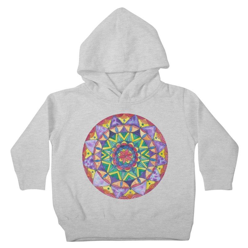 Rainbow Mandala (Women/Men/Kids) Kids Toddler Pullover Hoody by Rachel Mambach Art Shop