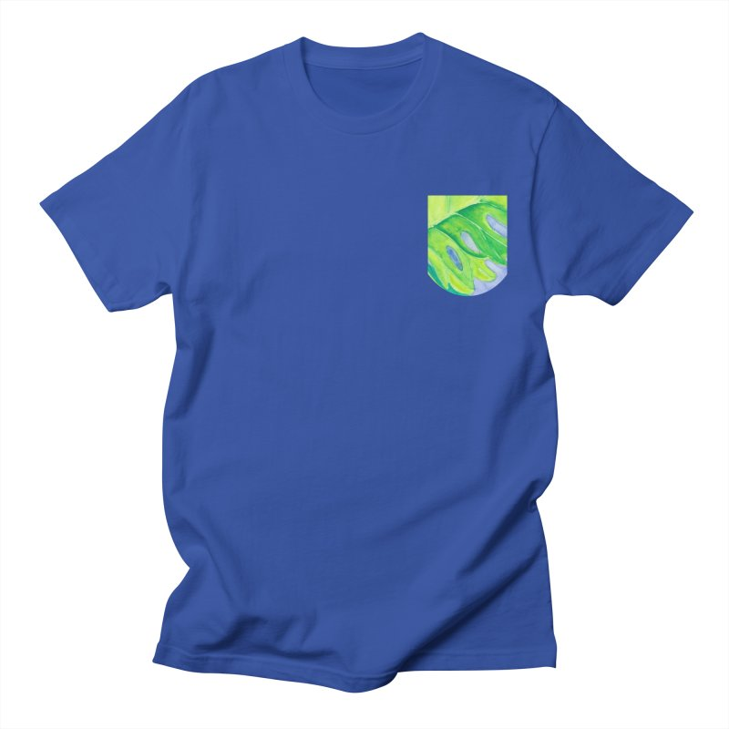 Lush Leaf Faux Pocket (Women/Men/Kids) Men's T-Shirt by Rachel Mambach Art Shop